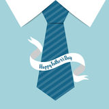 Happy fathers day card design with Big Tie. Vector Illustration Stock Photo