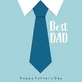 Happy fathers day card design with Big Tie. Vector Illustration Stock Photos