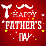 Happy Fathers day card design Royalty Free Stock Images