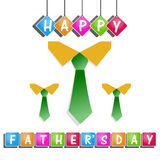Happy Fathers day card design Royalty Free Stock Photo