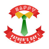 Happy Fathers day card design Stock Photo