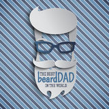 Happy Father`s Day card design for male event, banner or poster Royalty Free Stock Photos