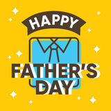 Happy fathers day card design with shirt Stock Photos