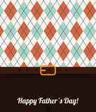 Happy fathers day card design. Royalty Free Stock Photography