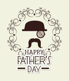 Happy fathers day card design. Royalty Free Stock Images