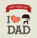 Happy fathers day card design. Stock Photo