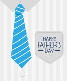 Happy fathers day card design. Royalty Free Stock Photo