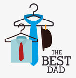 Happy fathers day card design. Royalty Free Stock Image