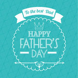 Happy fathers day card design. Stock Image