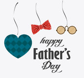 Happy fathers day card design. Royalty Free Stock Photos
