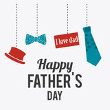 Happy fathers day card design. Stock Photography