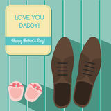 Happy fathers day card design, vector illustration Stock Images