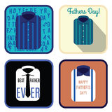 Happy fathers day card design, vector illustration Royalty Free Stock Images