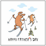 Happy fathers day card Royalty Free Stock Images