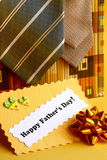 Fathers Day Card and Gifts Ties, Bow - Stock Photo Stock Photos