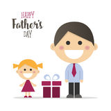 Happy fathers day card Stock Image