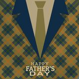 Happy fathers day card greeting Royalty Free Stock Photography