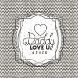 Happy fathers day card with heart. Vector illustration design Stock Photo