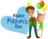 Happy fathers day card. Illustration royalty free illustration