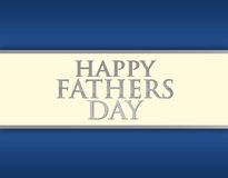 Happy fathers day card illustration Stock Photo