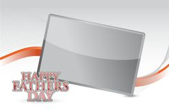 Happy fathers day card illustration design Royalty Free Stock Photos