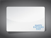 Happy fathers day card illustration design Stock Photo