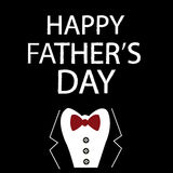 Happy Fathers Day Card with jacket royalty free illustration
