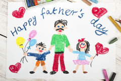Happy fathers day card Royalty Free Stock Photos