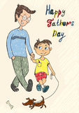 Happy fathers day card Royalty Free Stock Photo