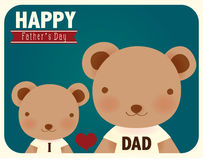 Happy fathers day card. Vector File EPS10 Royalty Free Stock Image