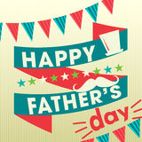 Happy fathers day card vintage retro Stock Photo