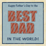 Happy fathers day retro poster Stock Images