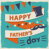 Happy fathers day card vintage retro Royalty Free Stock Photography