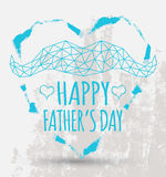 Happy fathers day card vintage retro type font Royalty Free Stock Image