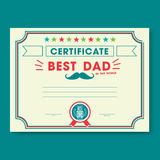 Happy fathers day card vintage retro Royalty Free Stock Photos