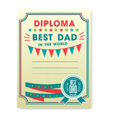 Happy fathers day card vintage retro. Royalty Free Stock Photos