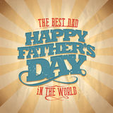 Happy fathers day card. Royalty Free Stock Image