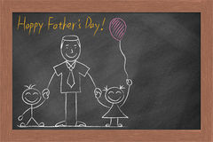 Happy Father's Day Chalkboard Stock Images