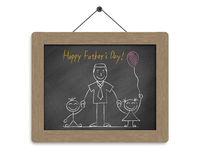 Happy Father's Day Chalkboard Royalty Free Stock Photography