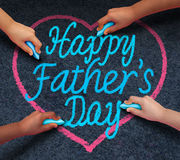 Happy Fathers Day Children Royalty Free Stock Photography