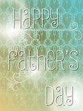 Happy Fathers Day Colorful Background Card Royalty Free Stock Photo