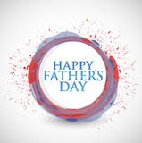 Happy fathers day colorful ink sign illustration Royalty Free Stock Images