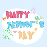 Happy Fathers Day Concept. Stock Images