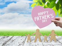 Happy fathers day concept. With copy space stock photography