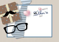 Happy fathers day concept design Royalty Free Stock Image