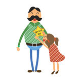 Happy Fathers Day concept Royalty Free Stock Images