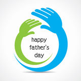Happy fathers day concept  Royalty Free Stock Image