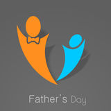 Happy Fathers Day Concept. Royalty Free Stock Image