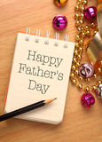 Happy fathers day. With decoration. Father's Day is held on the third Sunday of June in the United Kingdom stock photos