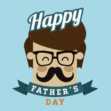 Happy fathers day design. Stock Photo